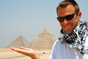 Matthew Parnell in Giza, Egypt.